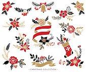 Christmas bouquets, wreaths and floral arrangements.