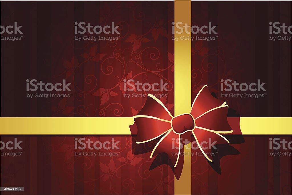 Christmas bow royalty-free stock vector art