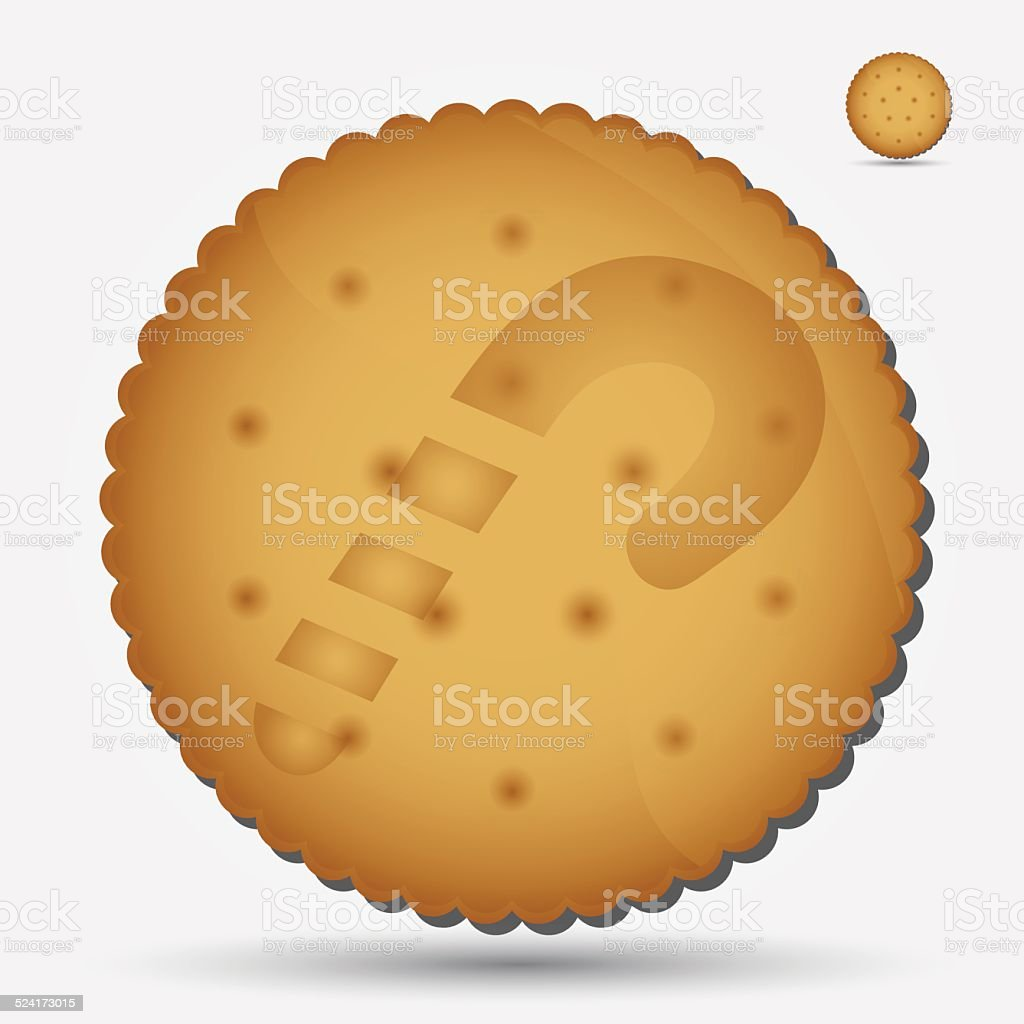 christmas brown biscuit with lollipop symbol eps10 vector art illustration