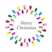 Christmas Bulb, simple Christmas element flat icon design, vector illustration