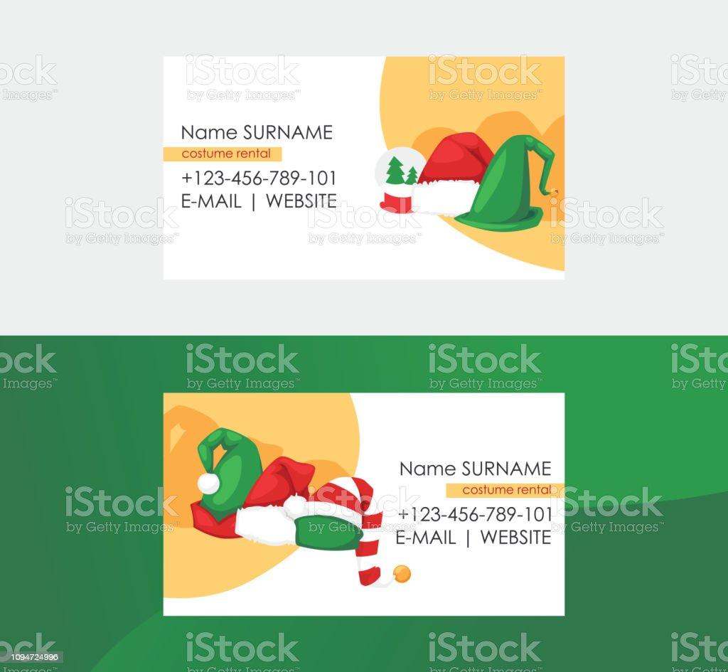 Weihnachtskarten Business.Business Weihnachtskarten Eingestellt Santa Hut Kostüm Verleih Fo