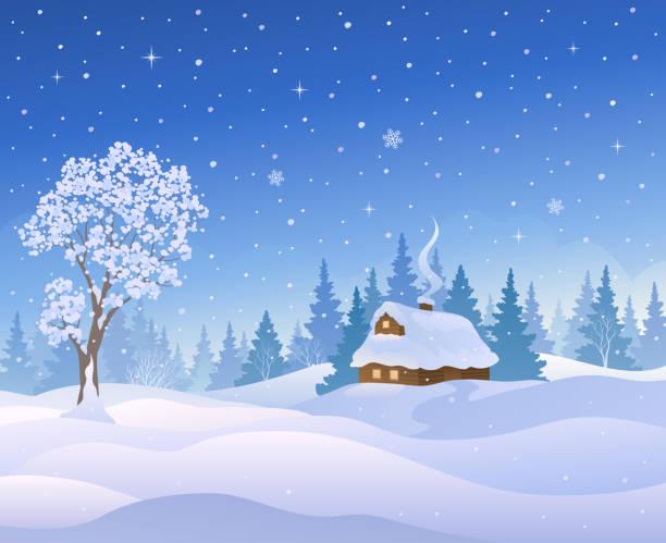 stockillustraties, clipart, cartoons en iconen met kerst cabine - christmas cabin