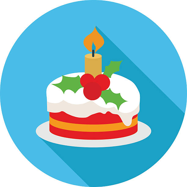Christmas Cake Clip Art, Vector Images & Illustrations ...