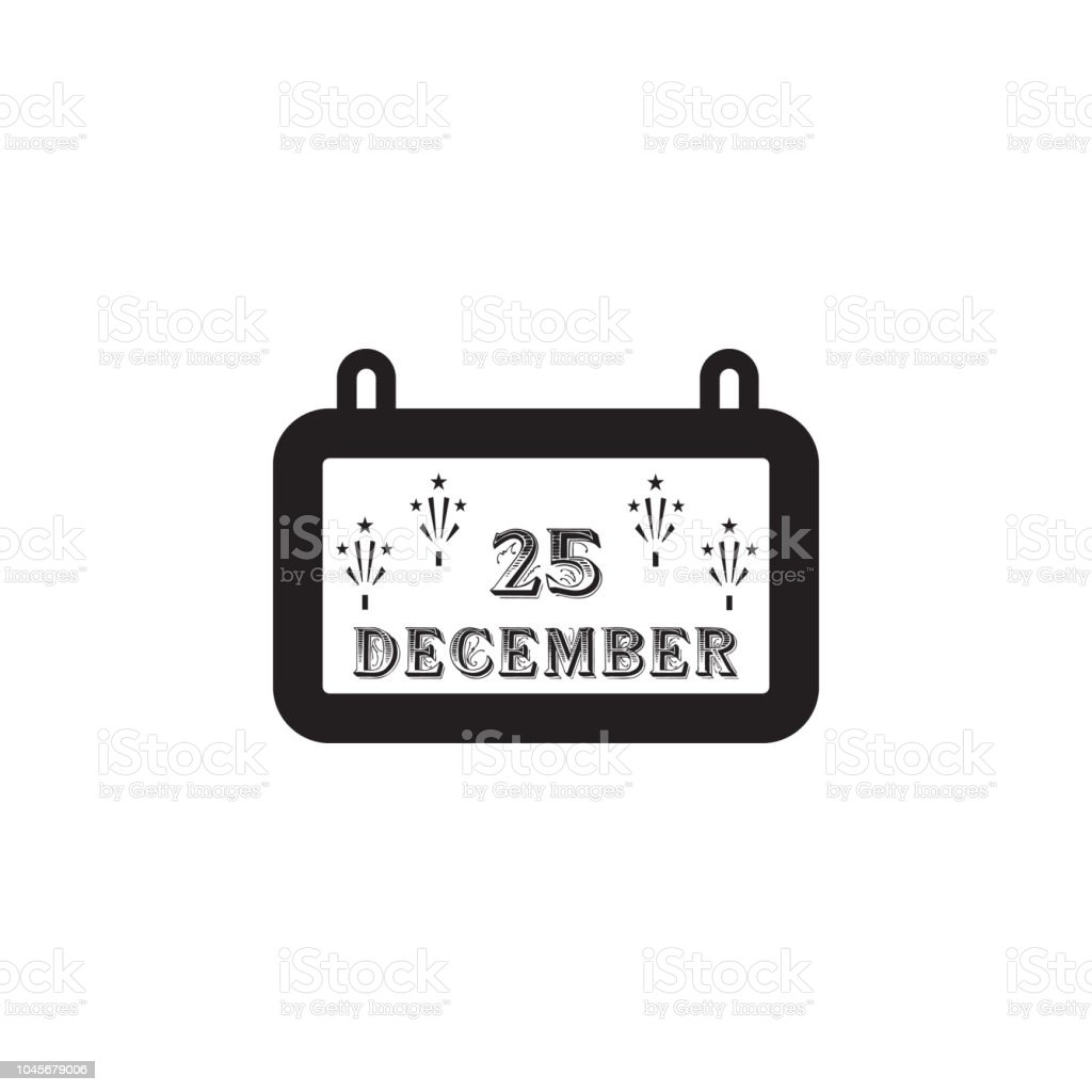 Christmas Calendar Icon Christmas Element Premium Quality Graphic