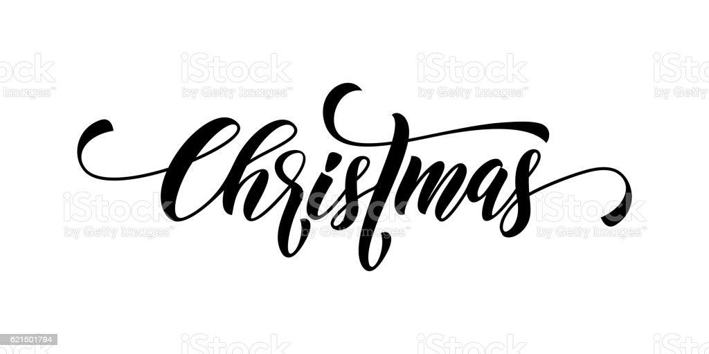 Christmas calligraphy lettering vector christmas calligraphy lettering vector – cliparts vectoriels et plus d'images de affiche libre de droits