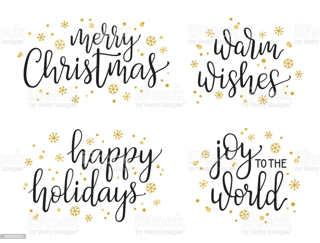 Weihnachten-Kalligraphie set – Vektorgrafik