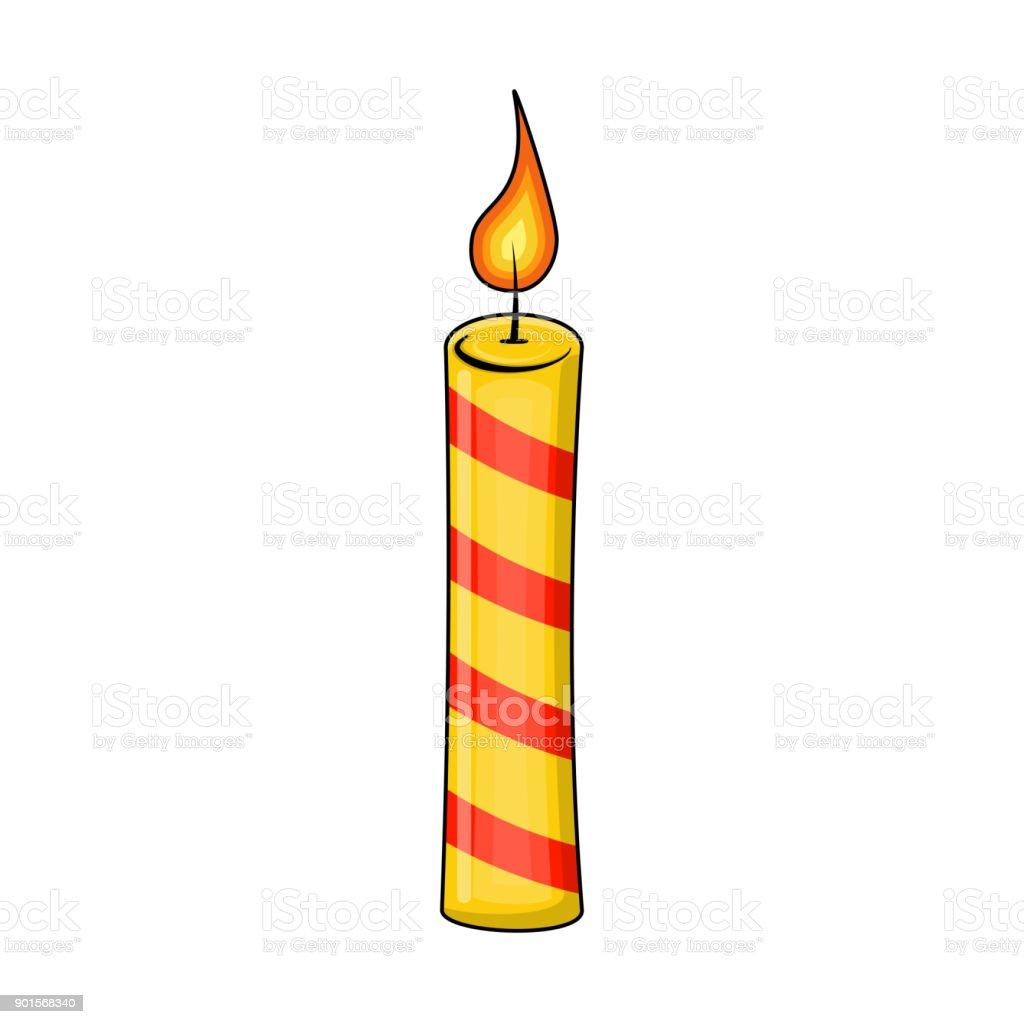 Lilin Natal Untuk Desain Natal Terisolasi Di Latar Belakang Putih ...