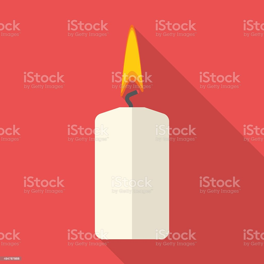 Christmas Candle illustration vector art illustration