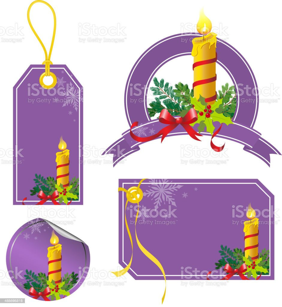Christmas Candle Price Tag royalty-free stock vector art