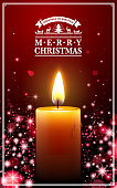 drawing of vector Christmas candle.This file was recorded with adobe illustrator cs4 transparent.EPS10 format.