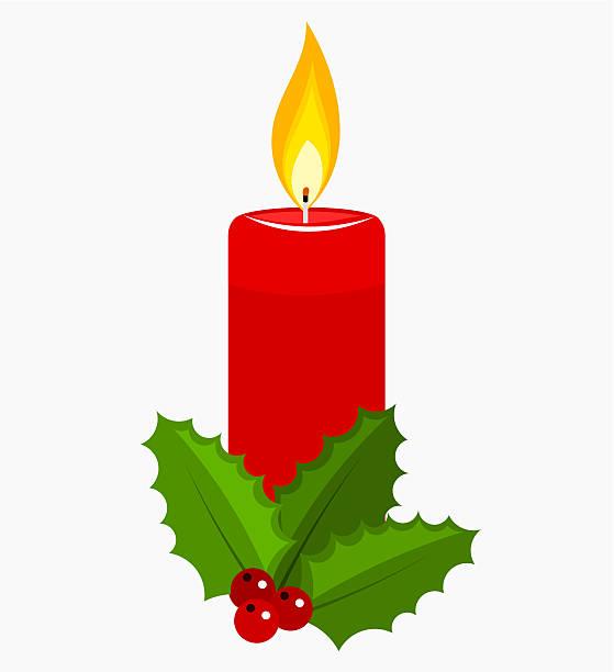 ilustraciones, imágenes clip art, dibujos animados e iconos de stock de vela de navidad - adviento