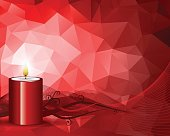 Red Christmas Candle. EPS 10.