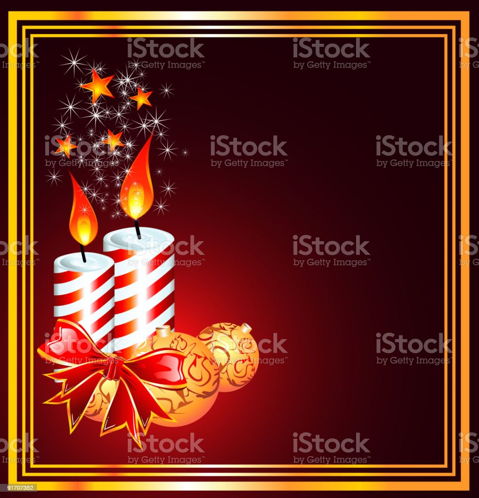 Christmas Candles Frame royalty-free stock vector art