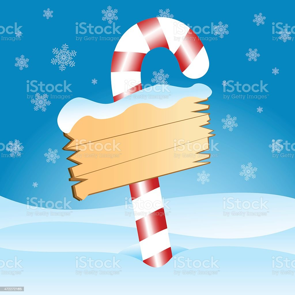 Christmas Candy Cane Sign royalty-free stock vector art