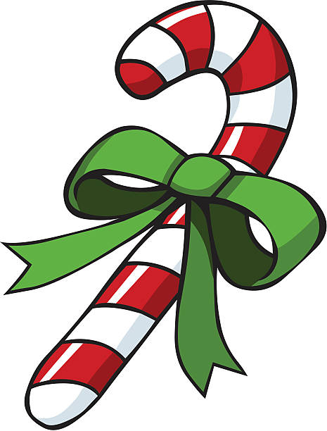 Royalty free candy cane cartoon clip art vector images illustrations istock - Canne de noel ...
