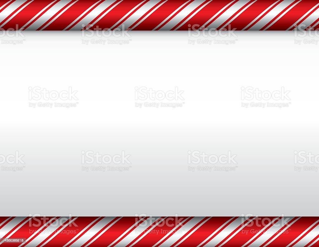 Christmas Candy Cane White Background vector art illustration