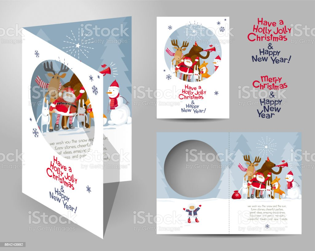 Christmas card concept royalty-free christmas card concept stock vector art & more images of animal