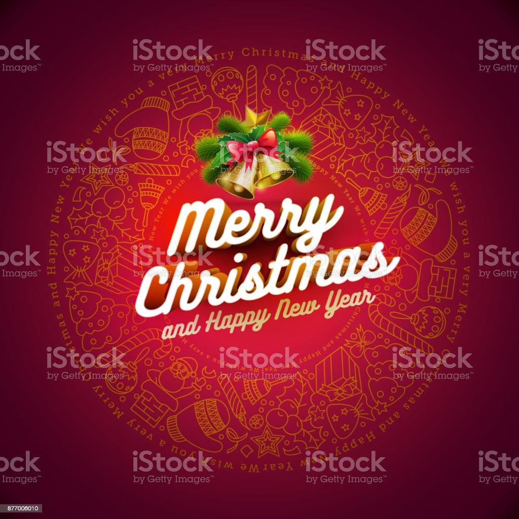 Christmas Card Design vector art illustration