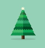 Christmas tree silhouette,christmas wishes, vector illustration, eps 10