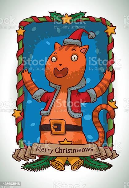 Christmas card ginger cat in santas costume vector id498693946?b=1&k=6&m=498693946&s=612x612&h=2go7w5g93tvlf8unafh0trwjaf1azs advoveenz8e4=