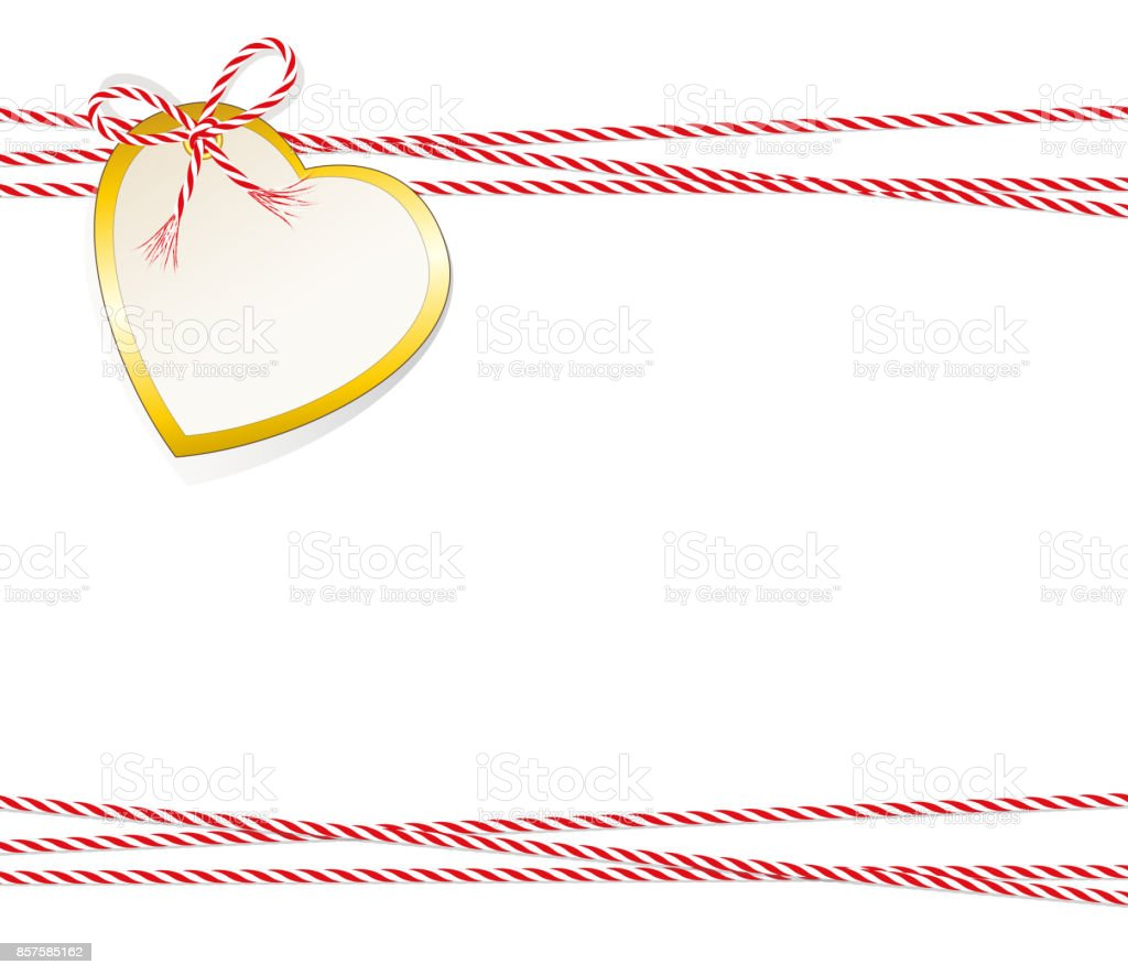 Ilustración de Tarjeta De Navidad Corazón Etiqueta De Regalo Con ...
