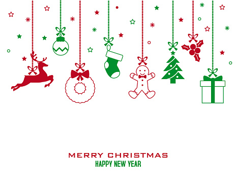 Christmas card icons