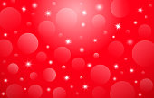 Vector Christmas Card, Red Background With Stars