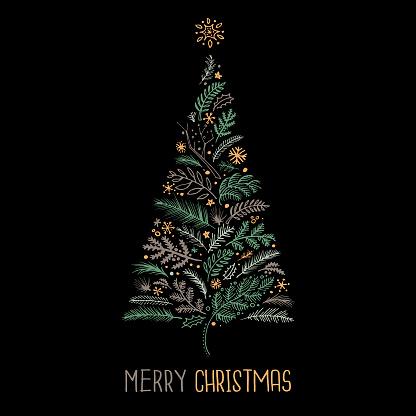 Christmas card sketch