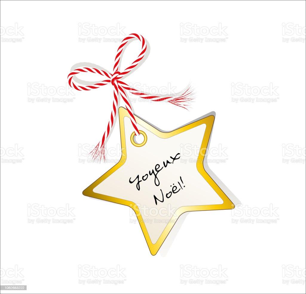 Kerstkaart Sterren Met Groeten In Frans Gift Tag Met Gouden Rand