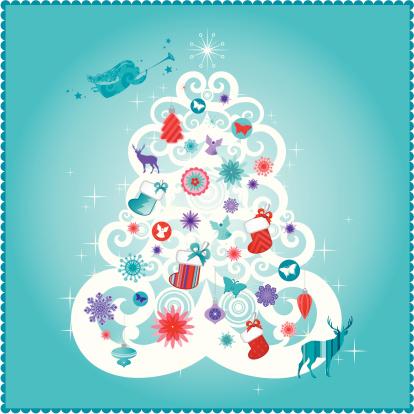 Christmas card   Teal series