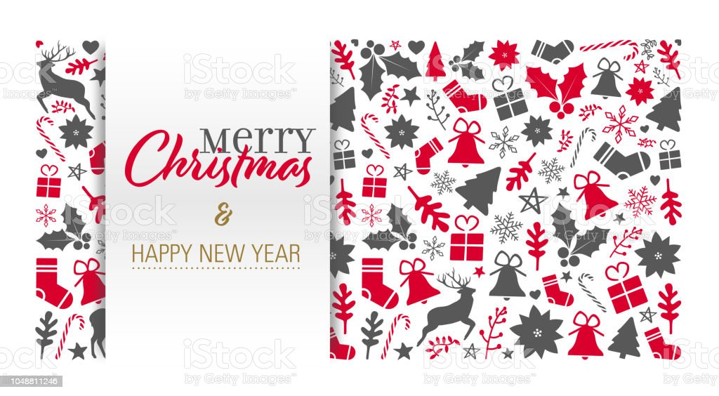 christmas card template stock vector art more images of abstract