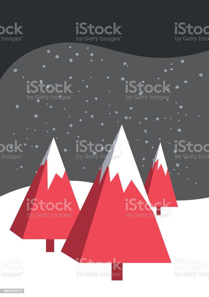Christmas Card template vector art illustration