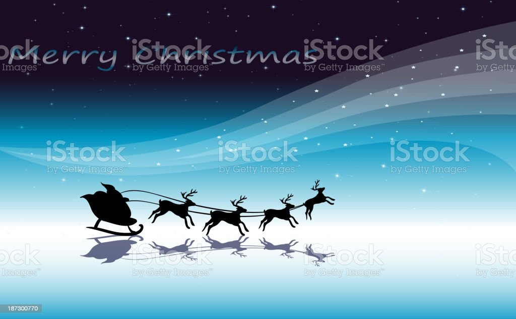 christmas card template with reindeers royalty-free stock vector art