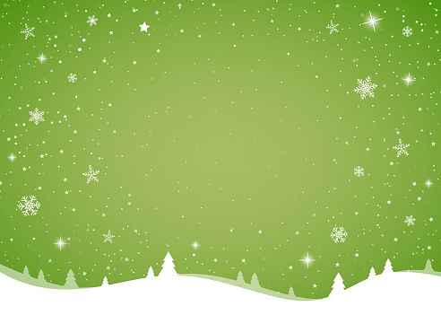 Christmas card template with with glossy snowflakes. Vector.