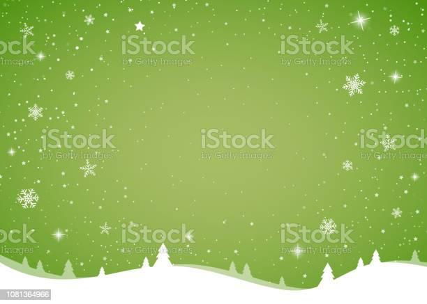 Modello Di Cartolina Di Natale Con Fiocchi Di Neve Lucidi Vettore - Immagini vettoriali stock e altre immagini di A forma di stella
