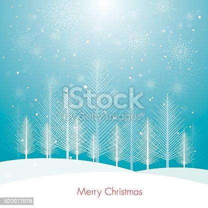 istock Christmas card tree-Illustration 622077578
