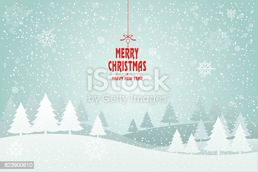 istock Christmas card tree-Illustration. 623900610