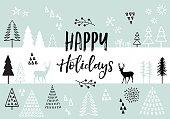 Christmas card, vector background