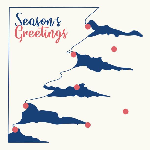 Christmas card vector graphic 7 vector art illustration