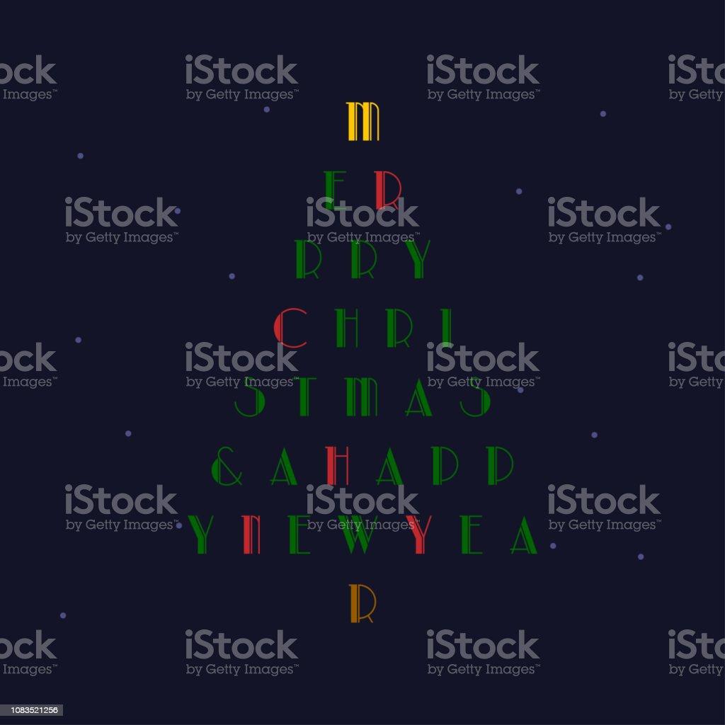 Christmas Card vector art illustration