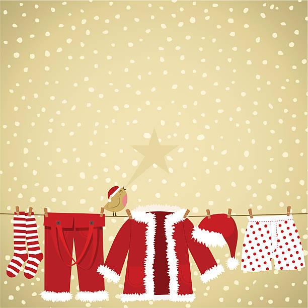 クリスマスカード - 楽しい 洗濯点のイラスト素材/クリップアート素材/マンガ素材/アイコン素材
