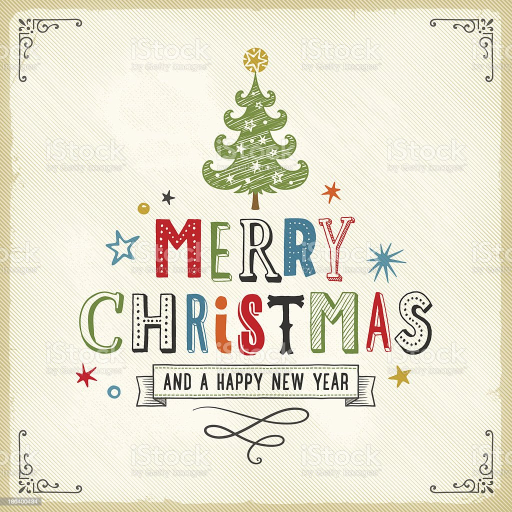 Christmas Card royalty-free christmas card stock vector art & more images of calligraphy