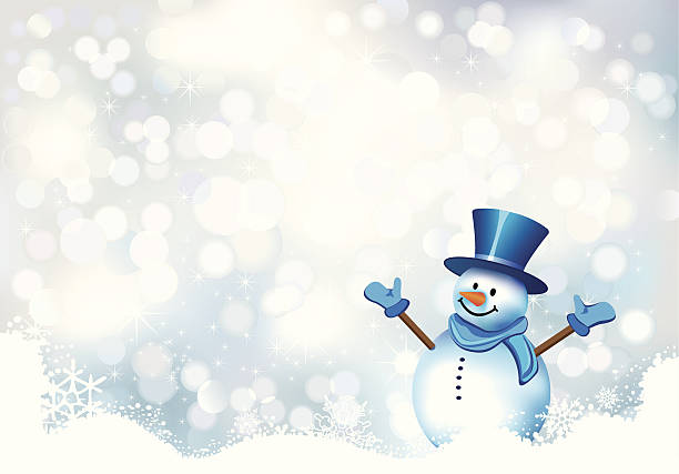 Christmas card Christmas card snowman stock illustrations