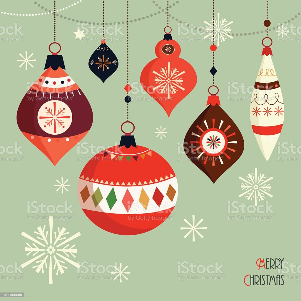 Christmas card vector art illustration