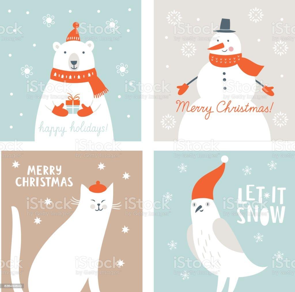 Carte de Noël - Illustration vectorielle