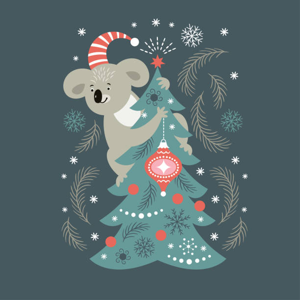 Christmas card Christmas card australian christmas stock illustrations