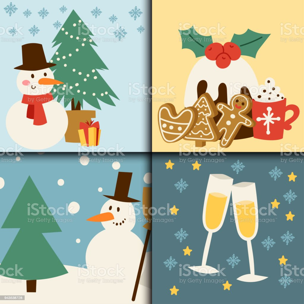 christmas card vector symbols for greeting banner winter new year celebration design royalty free christmas
