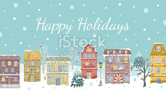 Christmas card. Vector