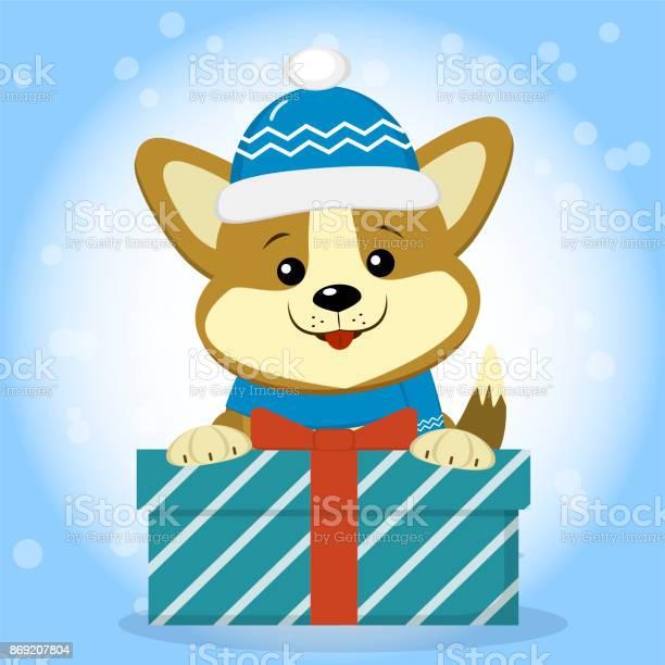 Christmas card with a cute corgi dog in a blue hat and scarf sitting vector id869207804?b=1&k=6&m=869207804&s=612x612&h=ypjcohck6teb0c89qo8m7lylk4gh2fs4euz4f u504c=