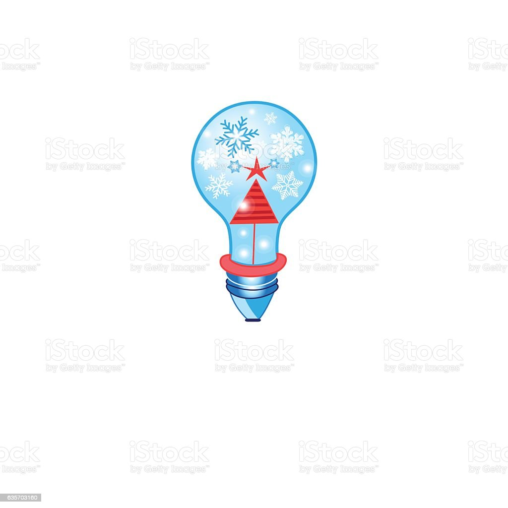 Christmas card with a light bulb royalty-free christmas card with a light bulb stock vector art & more images of backgrounds